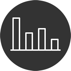 Statistic Icon, Used to Analyze Data to Detect Anomalies