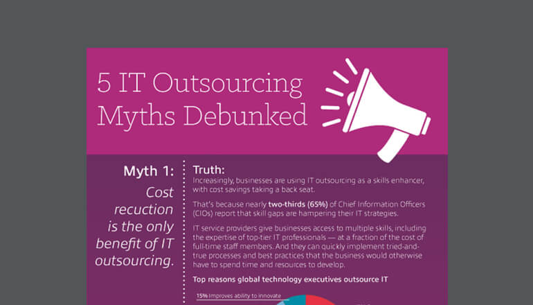 Outsourcing myths infographic cover image
