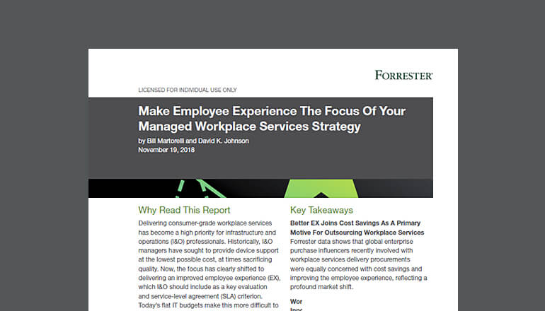 Forrester Employee Experience report cover image