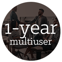 1-year multiuser subscription of AutoCAD