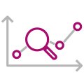 Magnifying glass chart icon