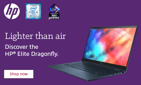 HP Elite Dragonfly notebook PC ad