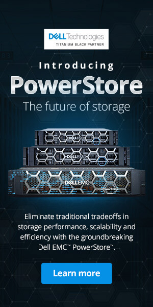 Ad: Dell. Introducing PowerStore. The future of storage. Learn more