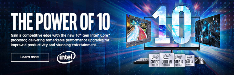 Ad: Intel. The Power of 10. Learn more