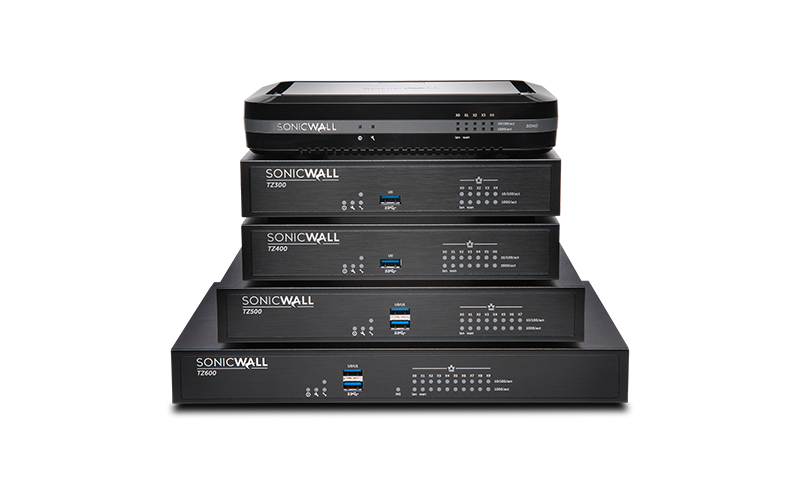 SonicWall Next-generation firewalls stack of products